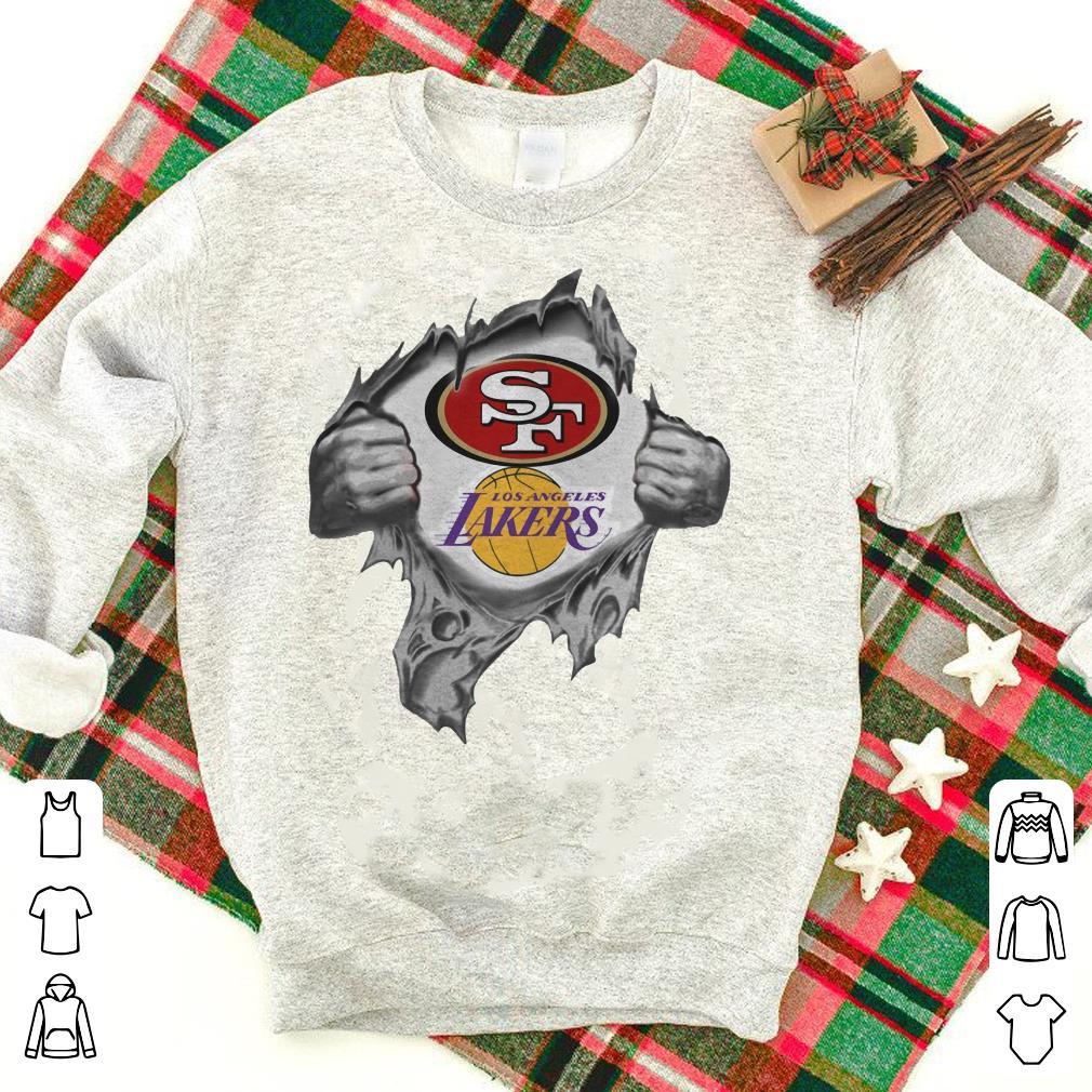 57487742c San Francisco 49ers vs Los Angeles Lakers inside shirt