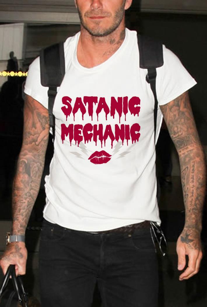Satanic Mechanic dripping blood Lip shirt