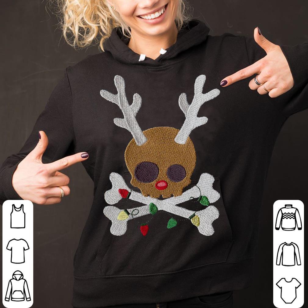 Skull reindeer Jolly Roger shirt 2