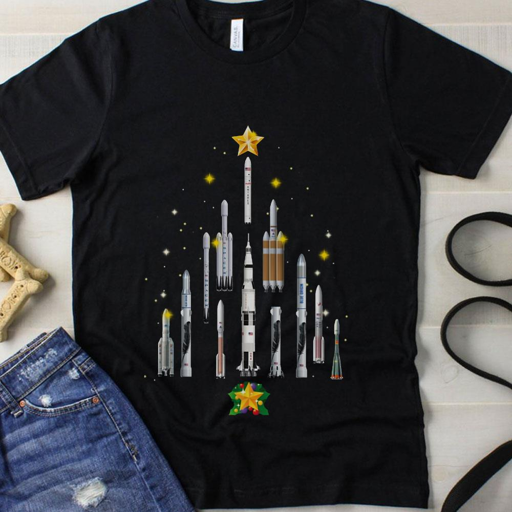 Space Christmas Tree Star Man shirt