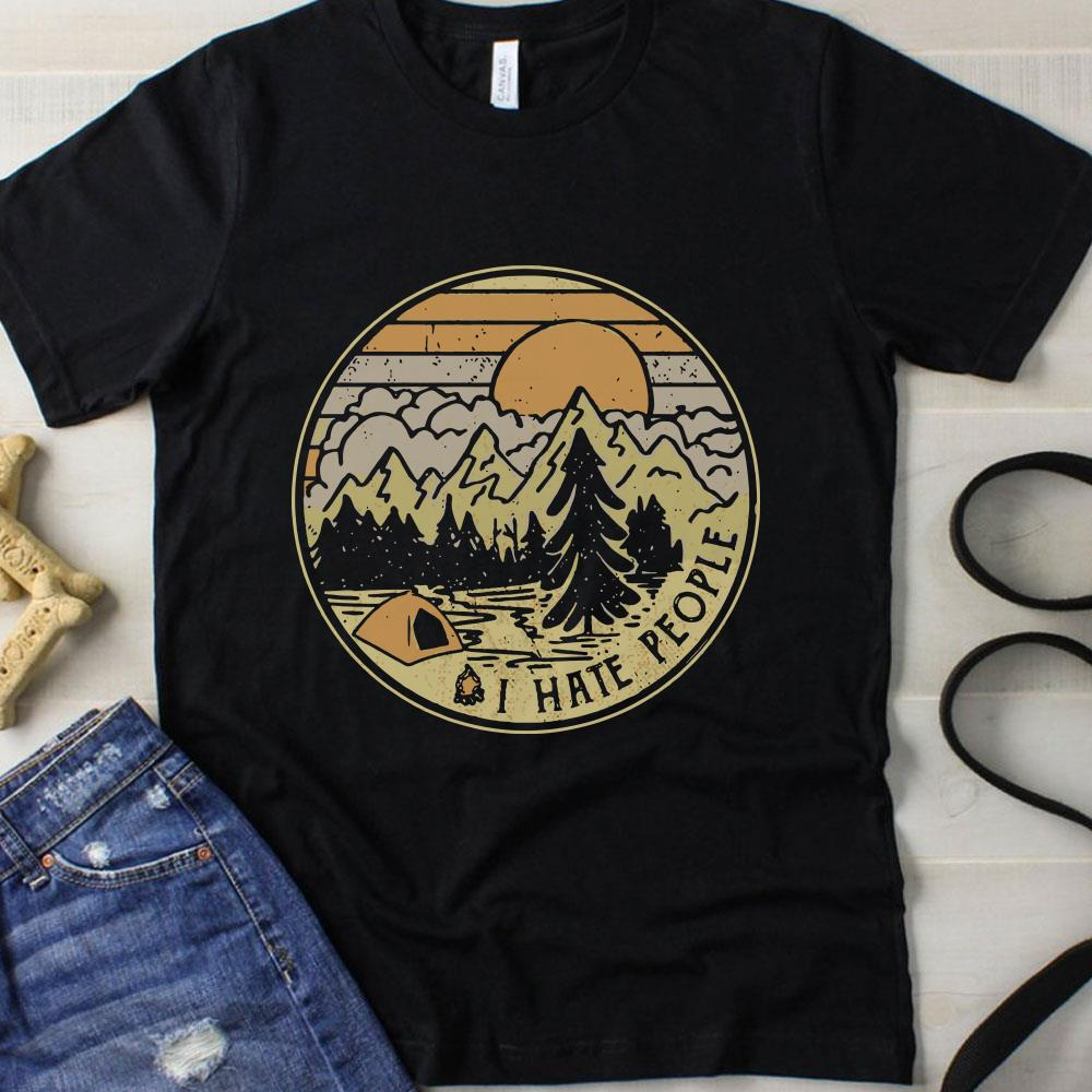 Sunset Camping I hate people shirt