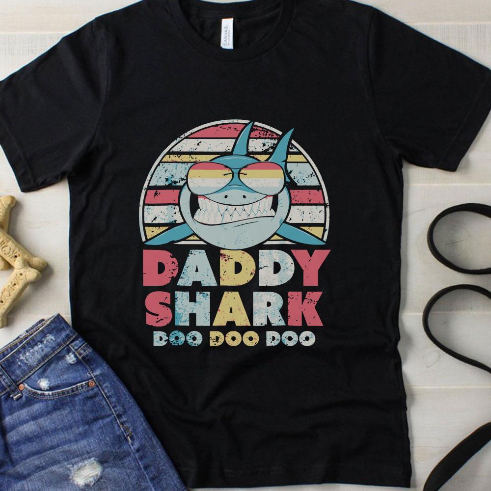 Sunset Daddy Shark Doo Doo Doo shirt