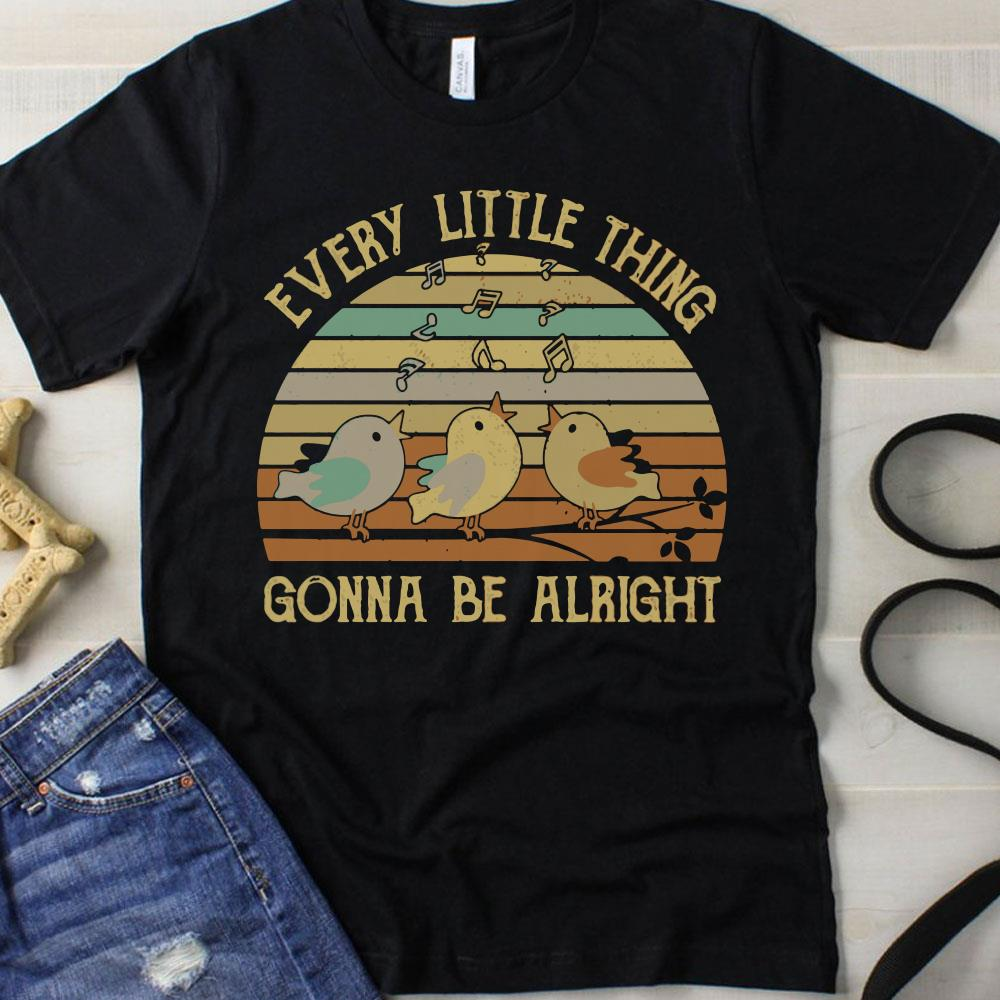 Sunset Every little thing gonna be alright shirt