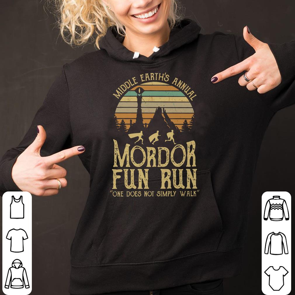 015b0007 Sunset middle earth's annual mordor fun run one does not simply walk shirt
