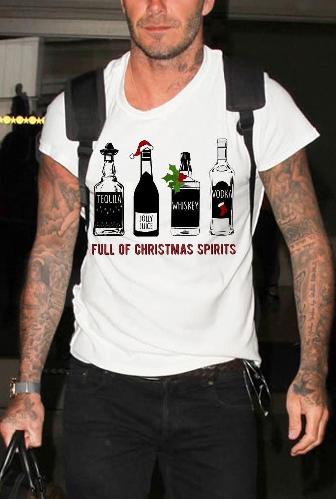 Tequila Jolly Juice Whiskey Vodka Full Of Christmas Spirits shirt