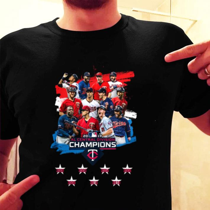 2019 Al Central Division Champions Minnesota Twins shirt