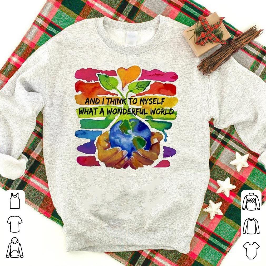 And I think to myself what a wonderful world water color 7 DIY shirt