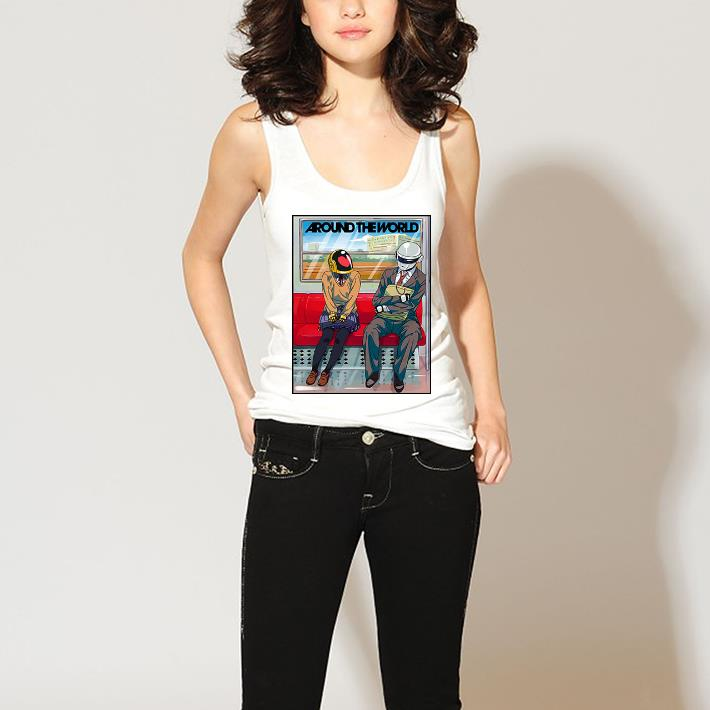 Around the world Daft Punk in subway shirt 3