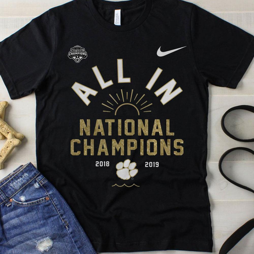 Championship football Clemson Tigers shirt