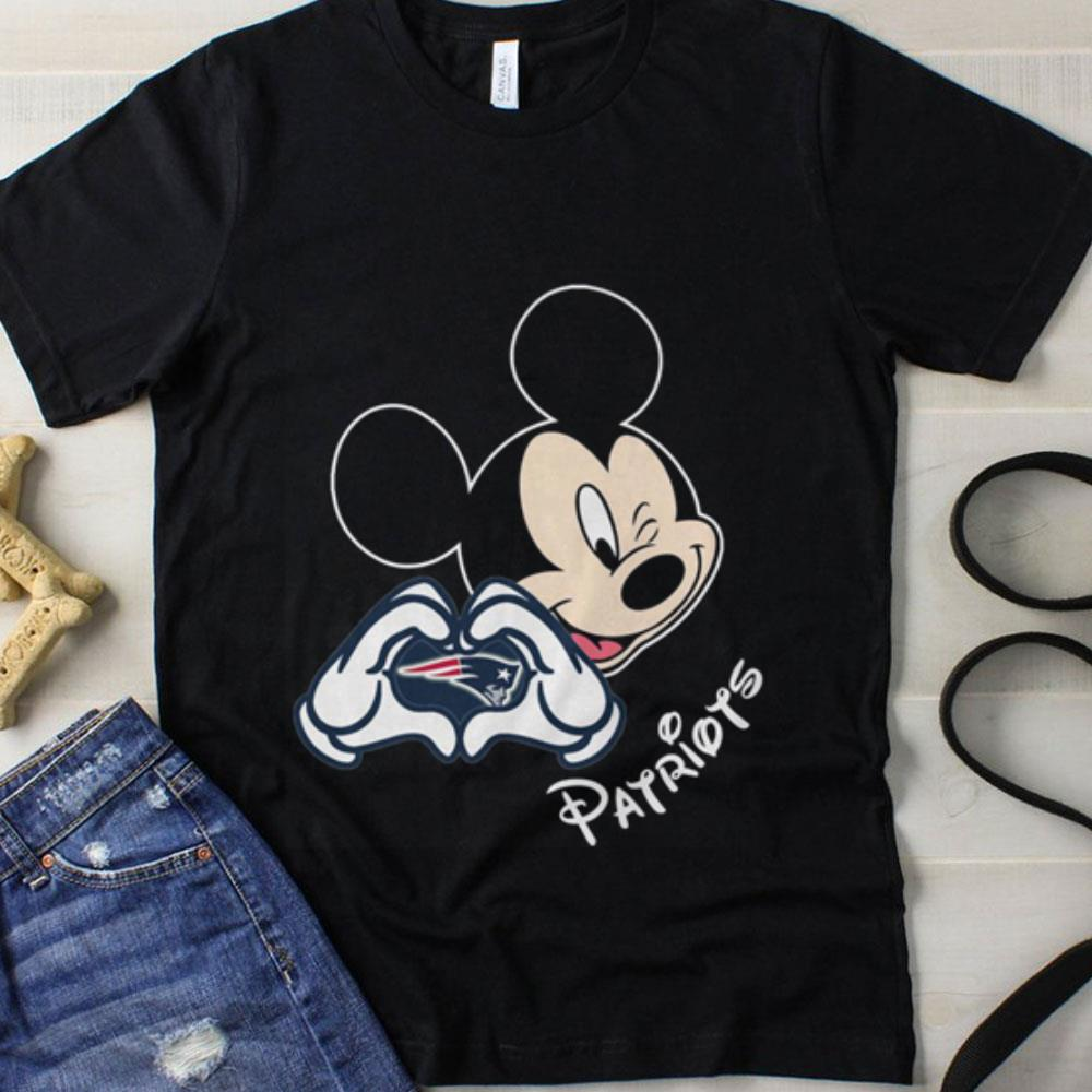 Football with Mickey mouse patriots love New England Patriots NFL shirt