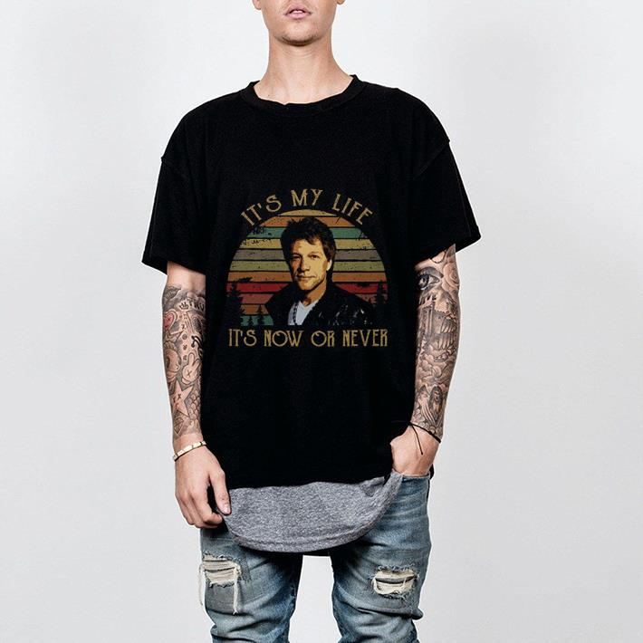 It's my life it's now or never sunset Bon Jovi shirt