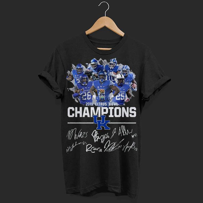 Kentucky Wildcats 2019 citrus bowl champions signature shirt