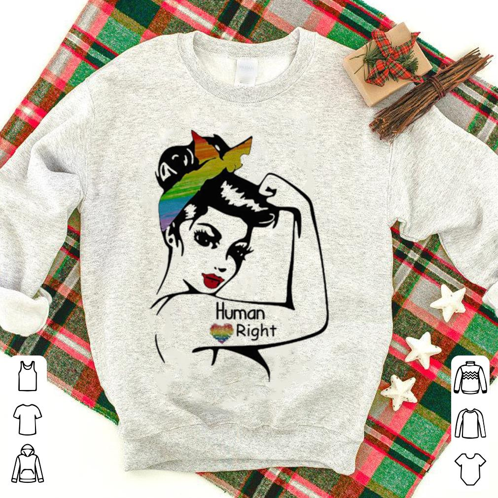 LGBT human right rosie pin up breast cancer shirt