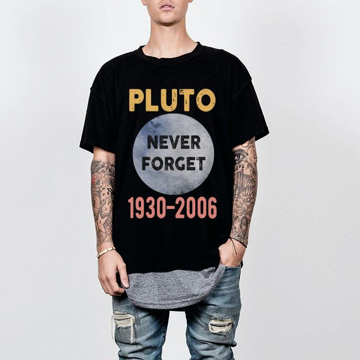 Large Oxford Adult Pluto Never Forget 1930-2006 shirt