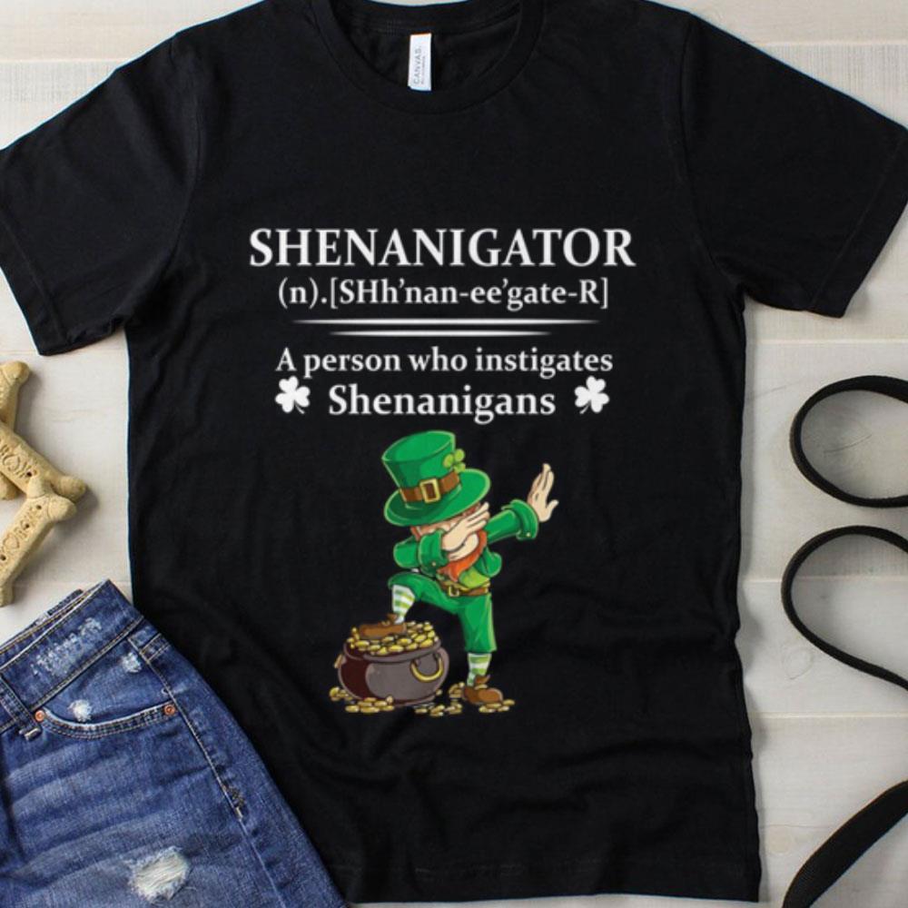 Shenannigator a person who instigates Shenanigans Leprechaun dabbing shirt
