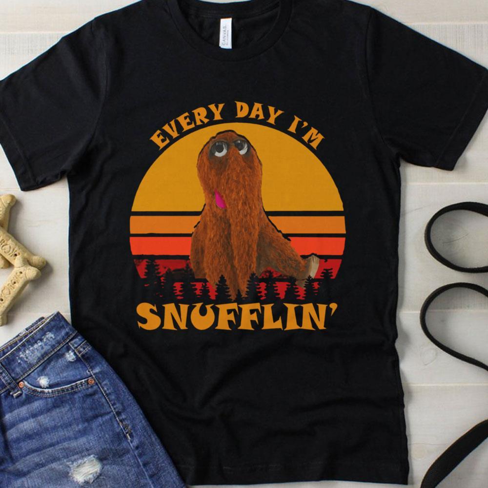 Sunset retro everyday I'm Snufflin' shirt