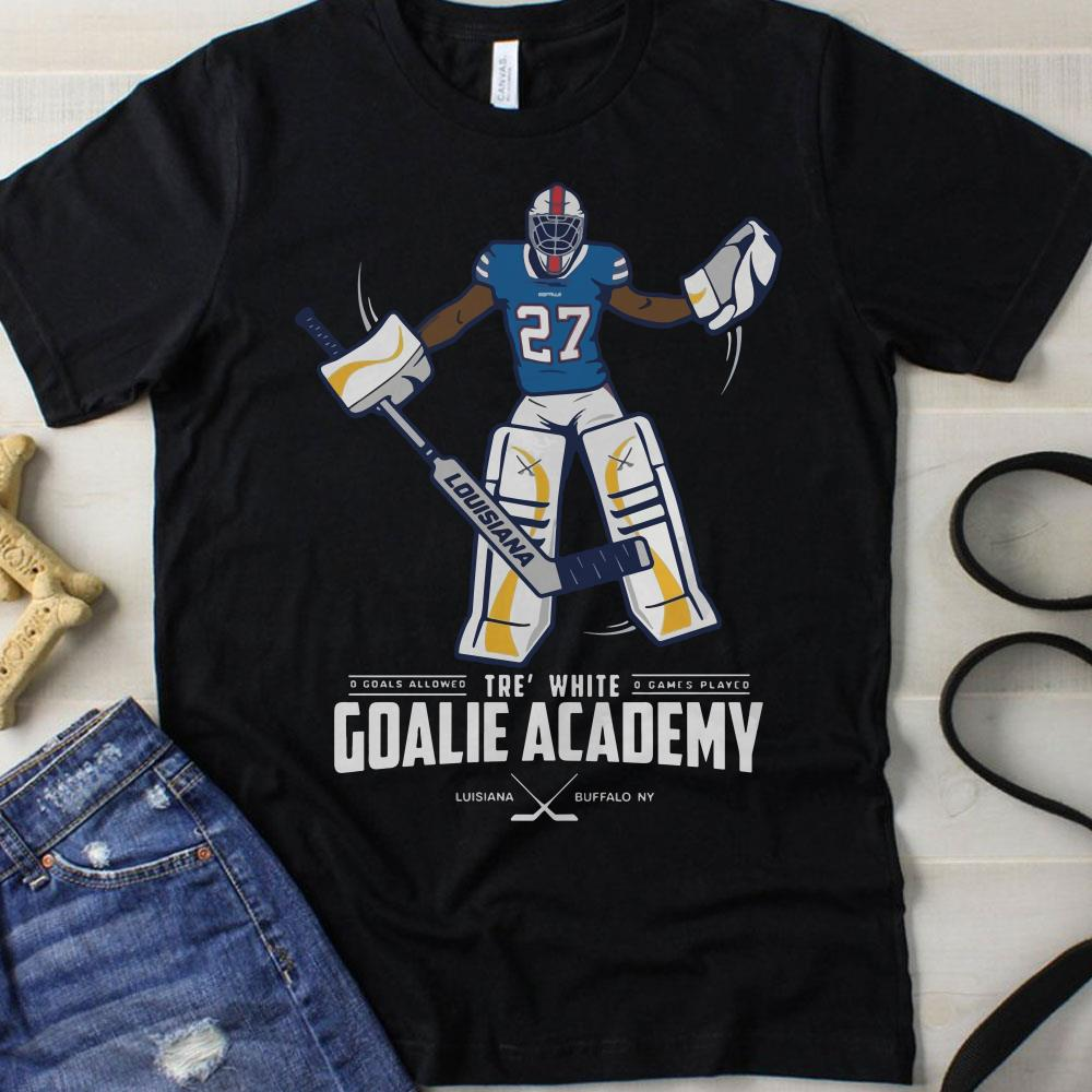 754048b078d Tre  white goalie academy hockey shirt