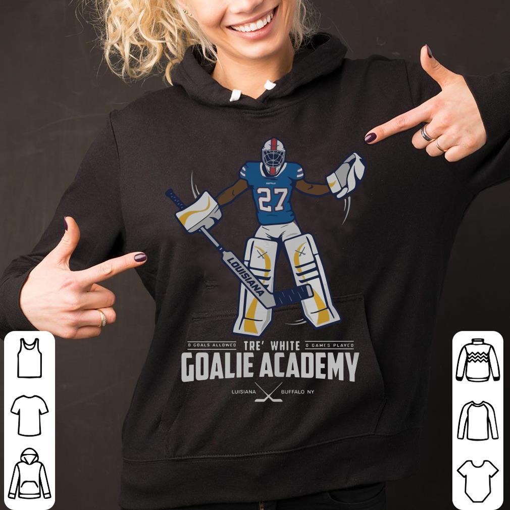 Tre' white goalie academy hockey shirt
