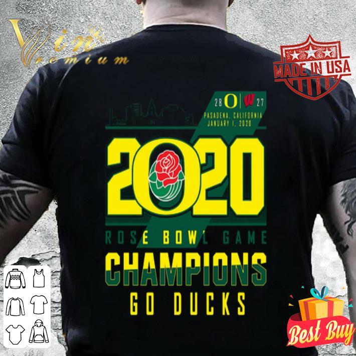 2020 Rose Bowl Game Champions Oregon Ducks vs Wisconsin Badgers shirt
