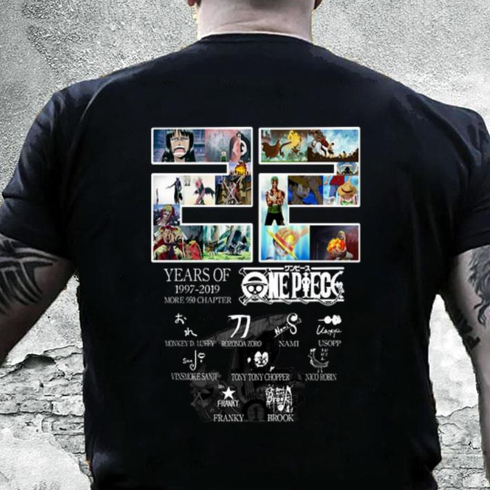 22 Years Of Onepiece 1997-2019 More 950 Chapter Signatures shirt