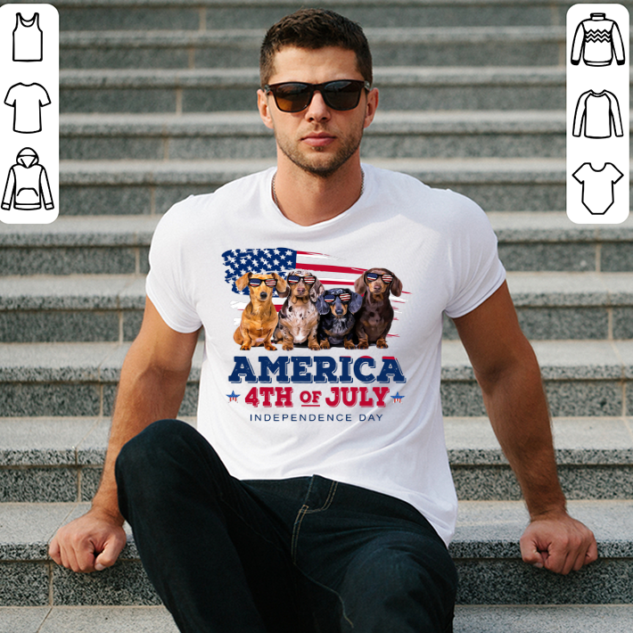 Dachshund America 4th July Independence Day shirt 2