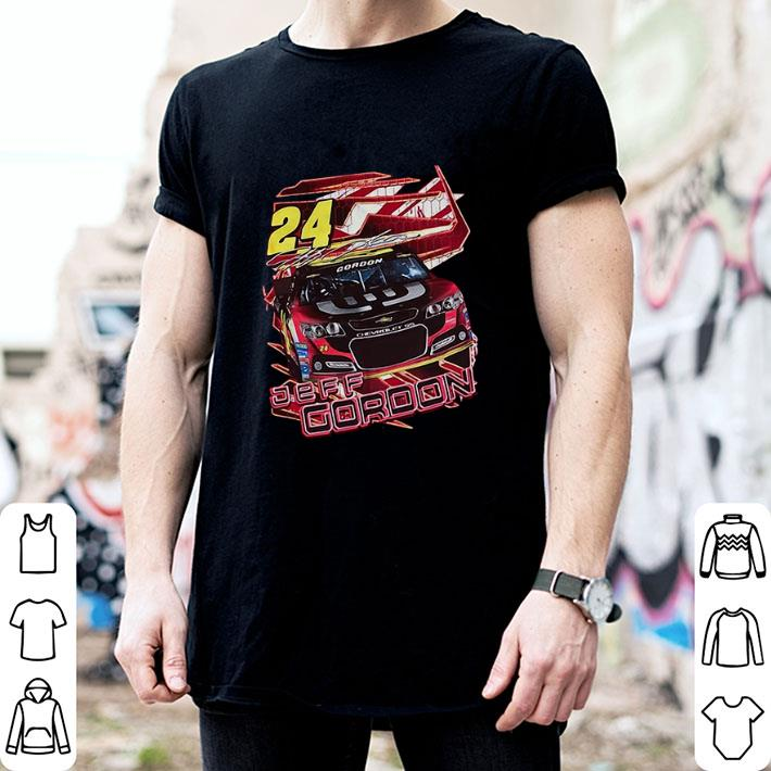 #24 Jeff Gordon Red DuPont signature shirt 2