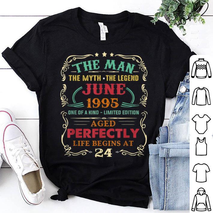 24th Birthday The Man Myth Legend June shirt