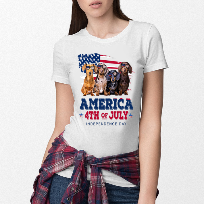 Dachshund America 4th July Independence Day shirt 3