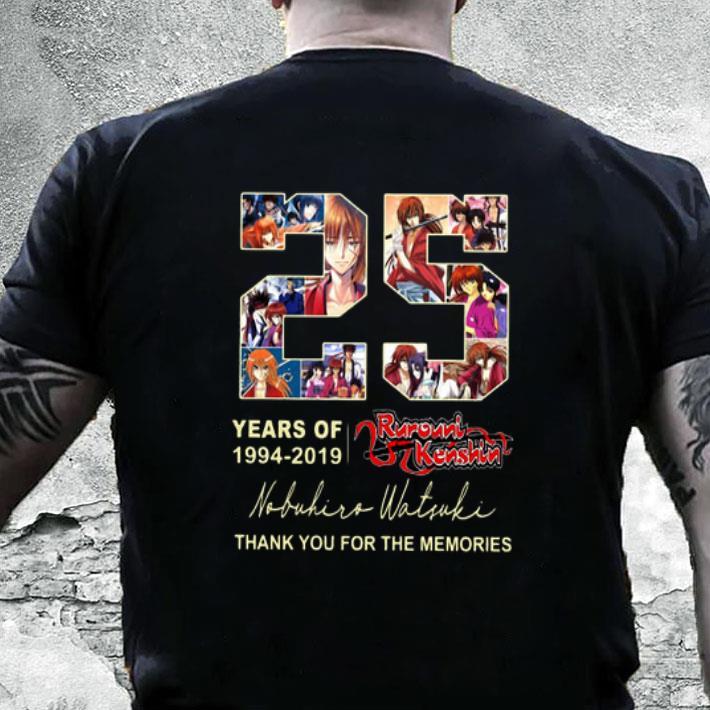 25 years of Rurouni Kenshin 1994-2019 thank you for the memories shirt