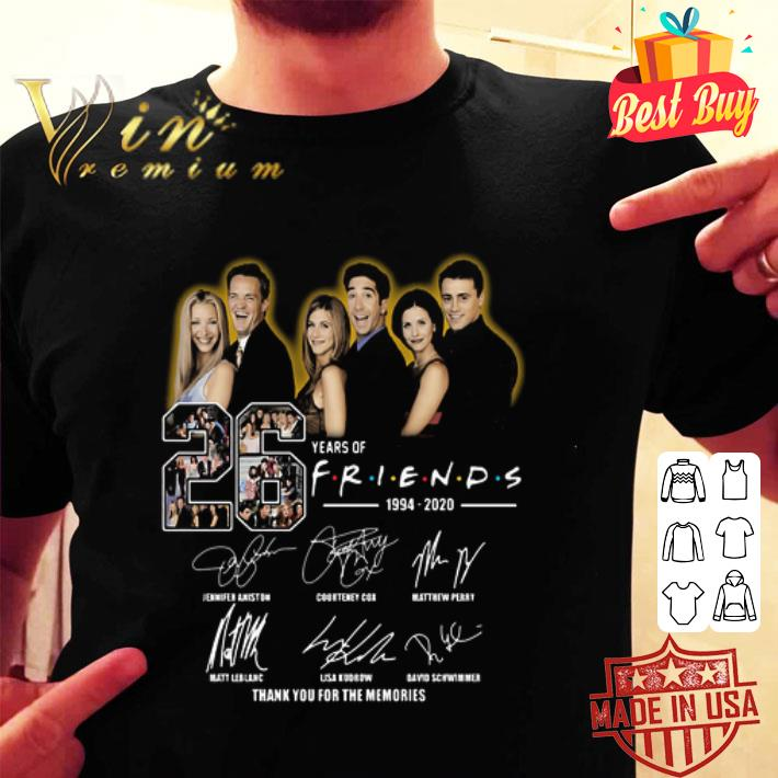 26 years of Friends 1994-2020 signatures shirt