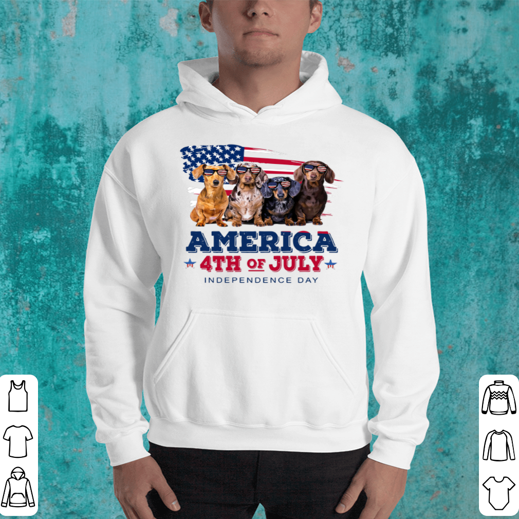 Dachshund America 4th July Independence Day shirt 4