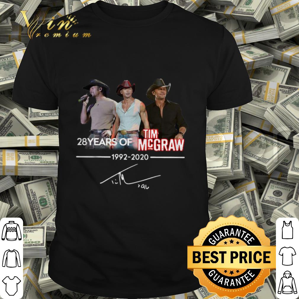 28 Years Of Tim Mcgraw 1992-2020 Signature shirt