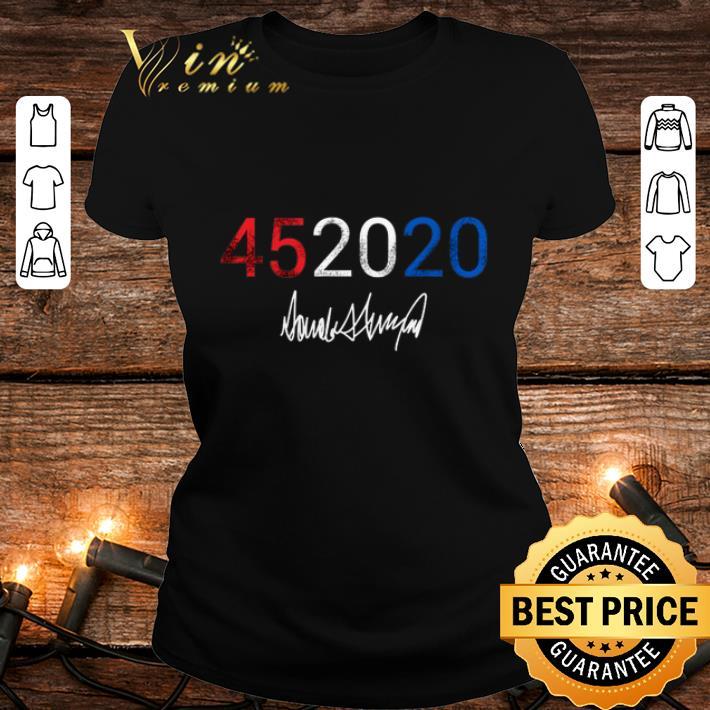 45 2020 Donald Trump signature shirt 2