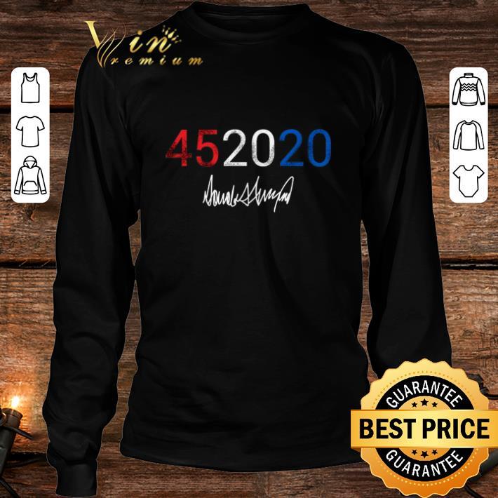 45 2020 Donald Trump signature shirt 3