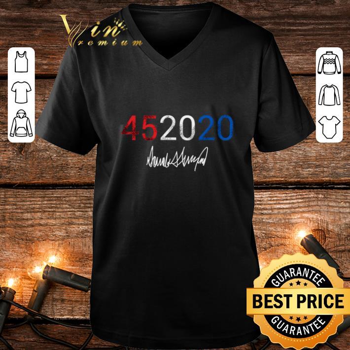 45 2020 Donald Trump signature shirt