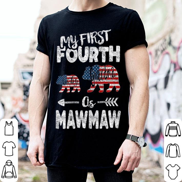 4th Of July For Mawmaw bear, Grandma Pregnancy Announcement American Flag shirt