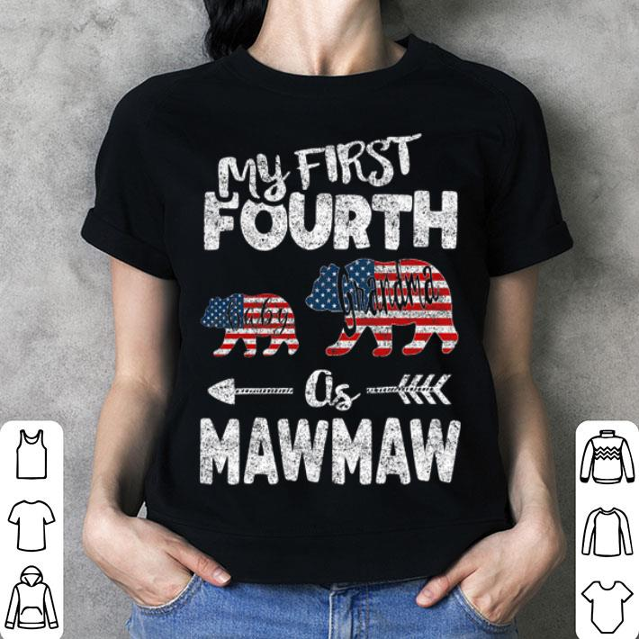 4th Of July For Mawmaw bear Grandma Pregnancy Announcement shirt