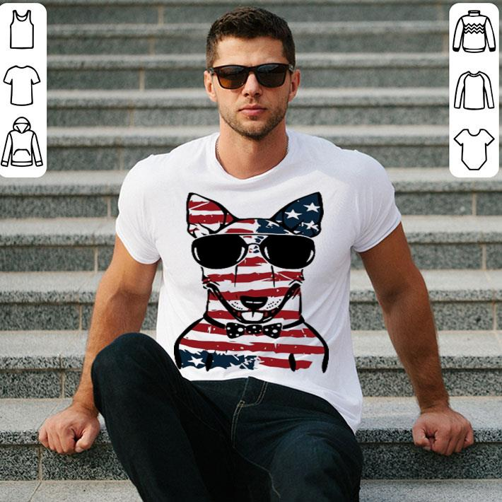 4th july independence day Bull Terrier American flag shirt