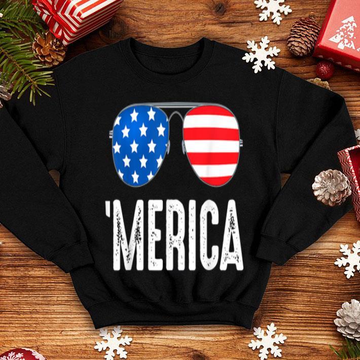 4th of July Merica USA American Pride Sunglasses shirt