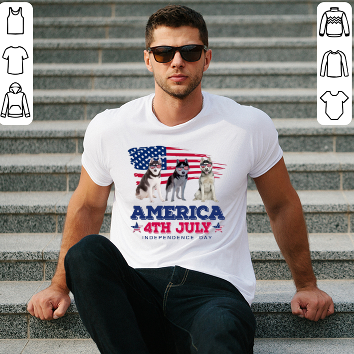 Siberian Husky America 4th July Independence Day shirt
