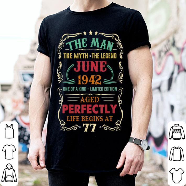 77th Birthday The Man Myth Legend June shirt