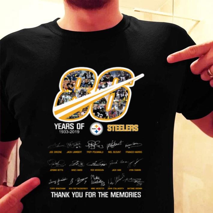 86 years of 1933-2019 Steelers thank you for the memories shirt