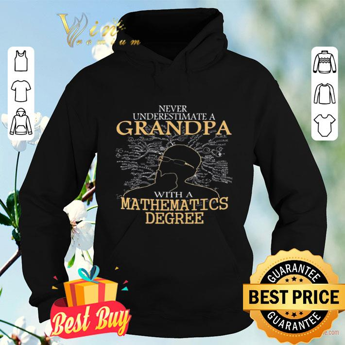 Never Understimate A Grandpa With A Mathematics Degree shirt