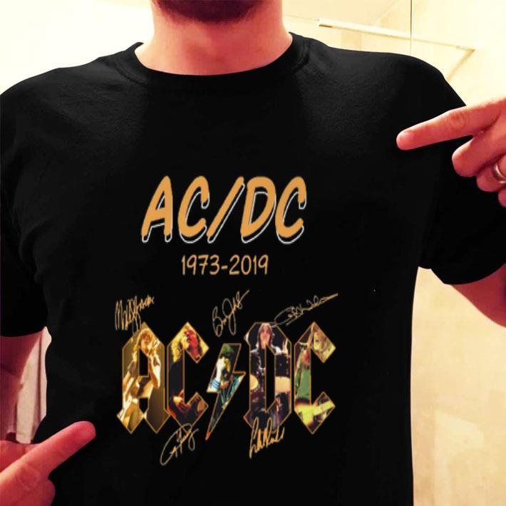 ACDC 1973-2019 signatures shirt