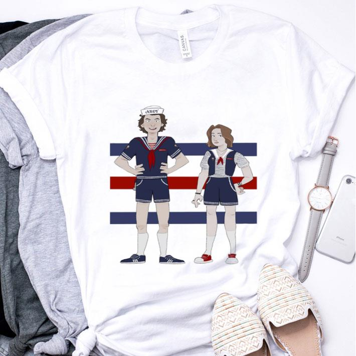 AHOY Steve Harrington and Robin Buckley cartoon shirt