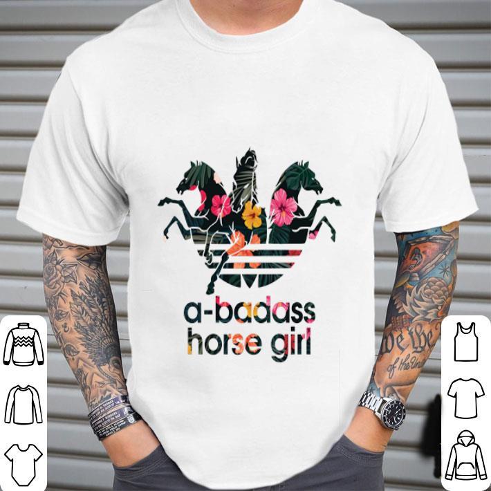 Adidas a-badass horse girl flower shirt