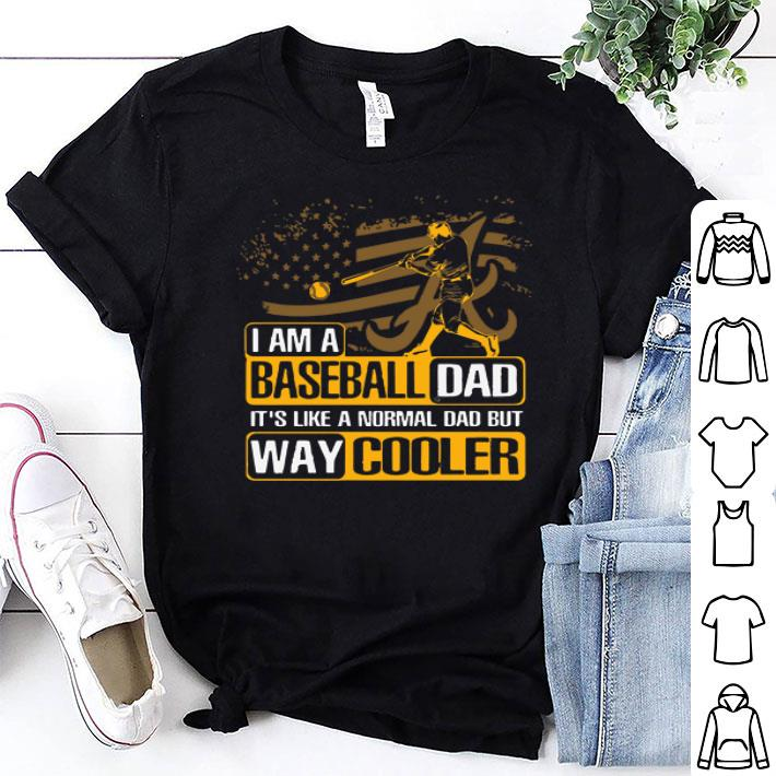 Alabama Crimson Tide I Am A Baseball Dad Way Cooler shirt