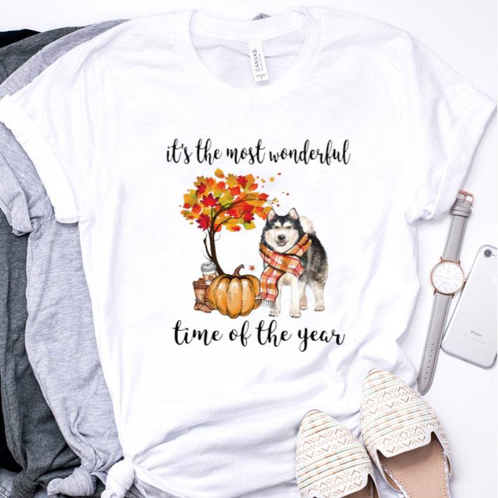 Alaskan Husky it's the most wonderful time of the year shirt