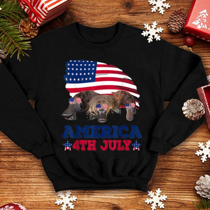 American 4th Of July Independences Day Platypus shirt