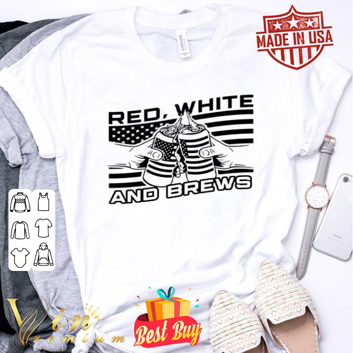 American Flag Beer Red White And Brew shirt